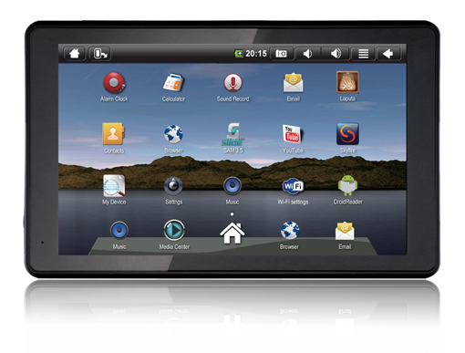 google android sylvania 7 mini tablet pc with 1ghz. Black Bedroom Furniture Sets. Home Design Ideas
