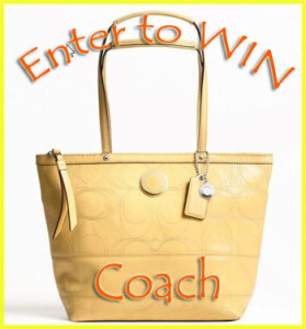 Madame Deals Event : TWitter Blast Coach Purse Giveaway Ends 4/20