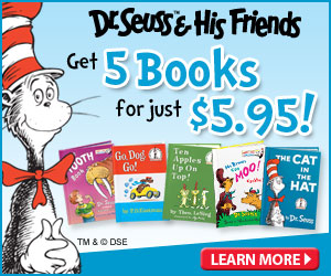 Dr. Seuss - 5 Books For $5.95 + Free Backpack