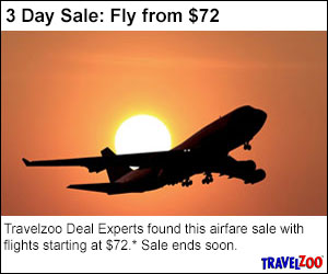 Travelzoo Deal Experts found this airfare sale with flights starting at $88 Sale ends Friday