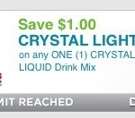 $1/1 Crystal Light Liquid Drink Mix Coupon Is Back + TWO Deals Including FREE Water!!