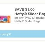 New $1/2 Hefty Slider Bags Coupon – Only $0.50 Hefty Bags at Dollar Tree!