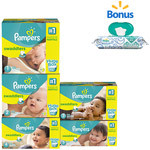 Pampers Swaddlers Diapers with Bonus Wipes