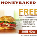 Join HoneyBaked Rewards for a Free Classic Ham Sandwich Coupon
