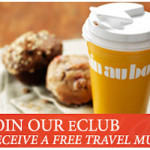 Join Au Bon Pain for a Free Travel Mug, Birthday Lunch & Gift