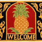 Welcome Pineapple Accent Rug