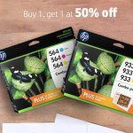 Buy one Original HP Ink, get a 2nd cartridge of equal or lesser value for 50% off
