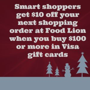 purchase 100 in visa gift cards at food lion and get 10 off on your next shopping order - Food Lion Christmas Eve Hours